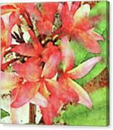 Autumn Plumeria Canvas Print