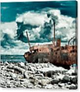 Plassey Wreck Canvas Print
