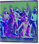 Plastic Army Man Battalion Pop Canvas Print