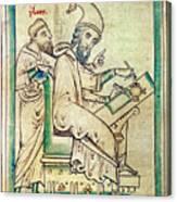Plato With Socrates Canvas Print