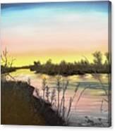 Platte River Sunrise Canvas Print