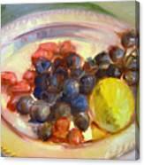 Platter Of Fruit Canvas Print