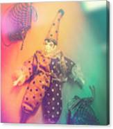 Play Act Of A Puppet Clown Performing A Sad Mime Canvas Print