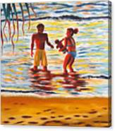 Play Day At Jobos Beach Canvas Print