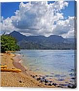 Play Time In Princeville Canvas Print