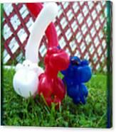 Playful Balloon Monkeys Canvas Print