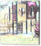 Playground Equipment Sketch Canvas Print