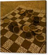Playing Checkers On A Rug Canvas Print