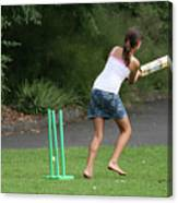 Playing Cricket Canvas Print