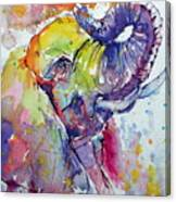 Playing Elephant Canvas Print