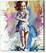 Playing Girl Canvas Print