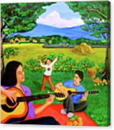 Playing Melodies Under The Shade Of Trees Canvas Print