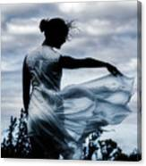 Playing With The Wind Canvas Print