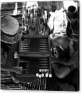 playng backgammon Sinai Egypt Canvas Print