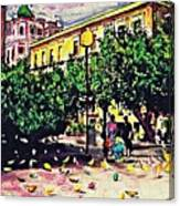 Plaza In Murcia Canvas Print