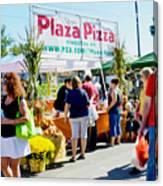 Plaza Pizza Canvas Print
