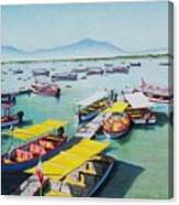 Pleasure Boats On Lake Chapala Canvas Print