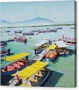 Pleasure Boats On Lake Chapala Canvas Print