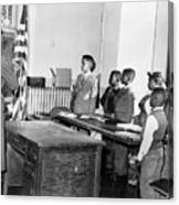 Pledge Of Allegiance, 1958 Canvas Print