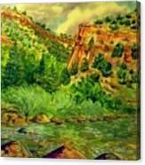 Plein  Air Of Eagle River Canvas Print