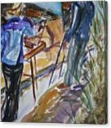Plein Air Painters - Original Watercolor Canvas Print