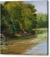 Plein Air Willow Creek Canvas Print