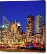 Plein At Blue Hour - The Hague Canvas Print