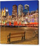 Plein Square At Night - The Hague Canvas Print