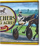 Pletchers Racing Mural Shipshewana Canvas Print