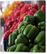 Plethora Of Peppers Canvas Print