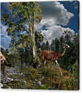 Pliocene - Pleistocene mural 2 Canvas Print