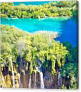 Plitvice Lakes National Park Vertical View Canvas Print