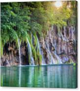 Plitvice Sunburst Canvas Print