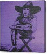 Plum Cowgirl Canvas Print