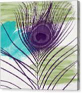 Plumage 2-art By Linda Woods Canvas Print