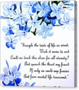 Plumbago   Poem Canvas Print