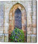 Plumergat, Brittany,france, Parish Church Window Canvas Print