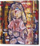 Plush Shaggy Toy Doggie Canvas Print