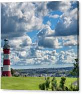 Plymouth Hoe And Smeatons Tower Canvas Print