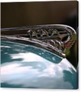 Art Deco Plymouth Hood Ornament Canvas Print