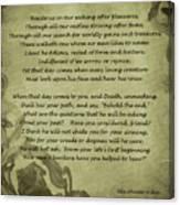 Poem The Question By Ella Wheeler Wilcox Canvas Print