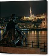 Poet On The Danube Canvas Print