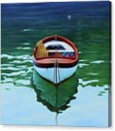 Coastal Wall Art, Poetic Light, Fishing Boat Paintings Canvas Print