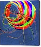Poetry Of Kite Swirls Canvas Print