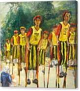 Pogo Stick Race Canvas Print