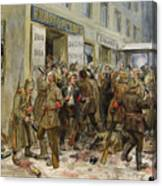 Pogrom Of Wine Shop Canvas Print