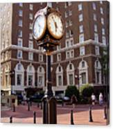 Poinsett Hotel Greeenville Sc Canvas Print