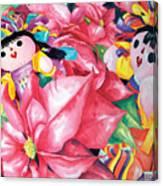 Poinsettia Christmas Canvas Print
