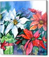Poinsettia Gifts Canvas Print