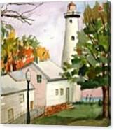 Point Aux Barques Lighthouse - Port Hope Mi Canvas Print